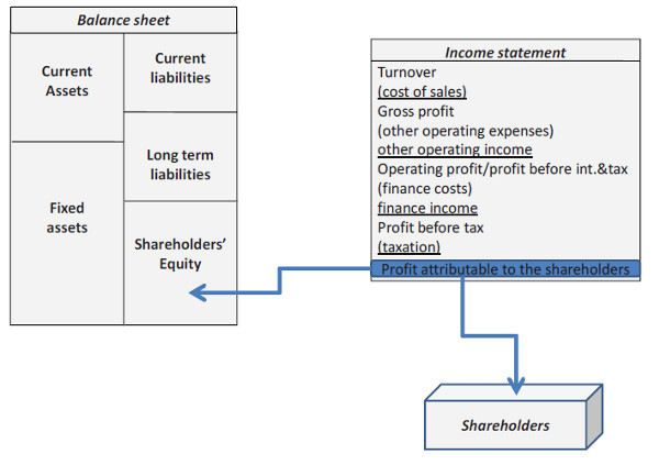 the allocation of profit attributable to the shareholders
