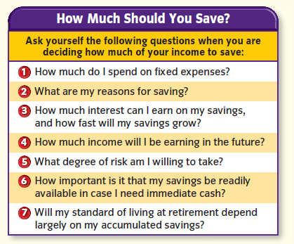 Savings Considerations